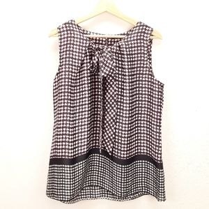 Tommy Hilfiger sleeveless bow front blouse